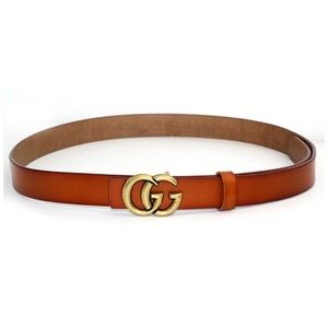 Super chic double G thin belt