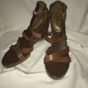 Ralph Lerann strap wedge sandals