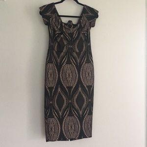 Midi length off the shoulder dress