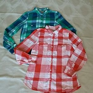 2 for $10 oldnavy plaid shirts
