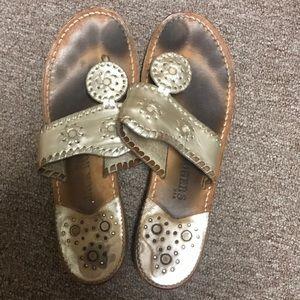 Jack Rogers Platinum sandals Size 6