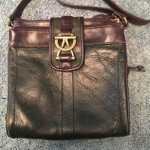 Tignanello Vintage Leather Crossbody Green/Brown