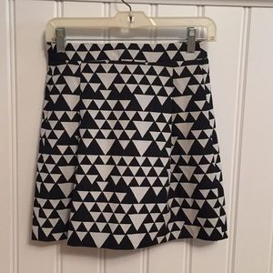 J. Crew triangle pattern skirt; fully lined!