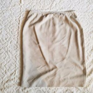 Worthington Tan Suit Skirt