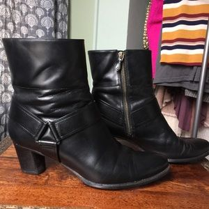 Cole Haan Black Leather Ankle Booties