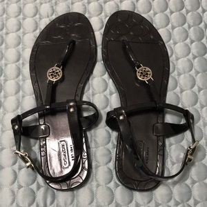 NWOT black Coach Pansy sandals sz 9