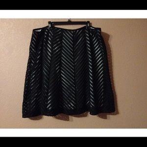 Woman black white skirt Plus size22W