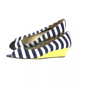 Kate Spade Striped Wedge Heels Size 6