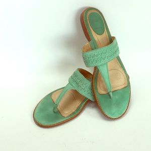 Frye Ali Artisinal Thong Sandal 10 Exposed Stitch