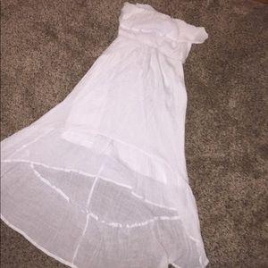 Vanity white strapless dress