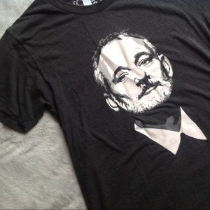 Bill Murray The Chive Portrait Charcoal Gray Tee