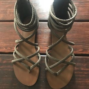 Brown gladiator sandal