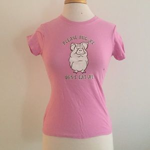 NWT Light Pink Fitted TShirt Vegetarian Vegan
