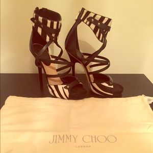 Jimmy Choo Zebra Stripe Heels