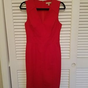 Hottie! BANANA Republic red dress with pipping!