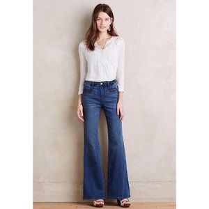 Anthropologie Pilcro Stet Flare Jeans Leather