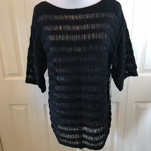 NWT Vince Camuto Black Knit Tunic Top S 89.00