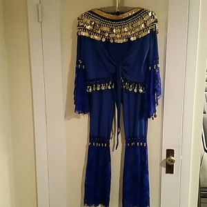 Other - 3 piece Belly Dance costume, M, blue or red