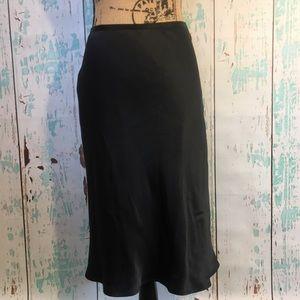 Ann Taylor black silk skirt size 2