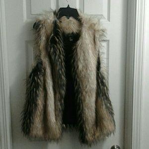 Fur vest Womens large