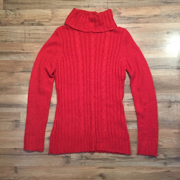 44% off Route 66 Sweaters - Route 66 red cable knit turtleneck ...