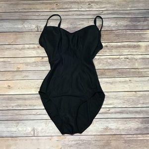 Victoria's Secret, 8D, black, one piece swim suit