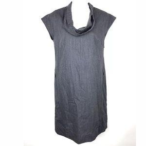 J. Crew Wool Career Dress Gray Size 0 Cowl Neck