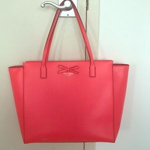Kate Spade Large Leather Red Tote