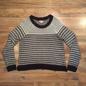 Merona acrylic black & white winter sweater, M