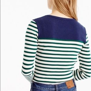 ❤️NWT J Crew 2016 fall Stripe Sweater