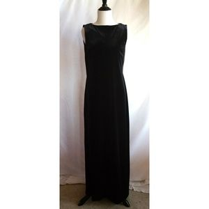 J.Crew Size 10 Black Maxi Velvet Dress