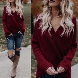 LAST - ANISTON Softest Sweater - WINE