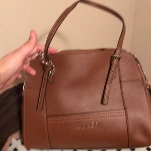 Brown guess shoulder bag with matching wallet