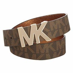 Michael Kors Brown Logo Belt