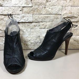 J.Crew Heels Quorra Peep-Toe Leather Booties