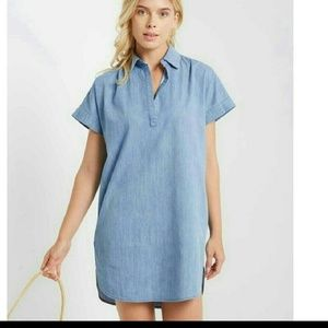 Denim - NWT Collard Shift Dress