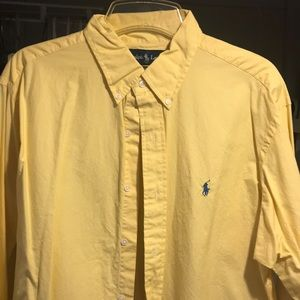 Polo button down, yellow