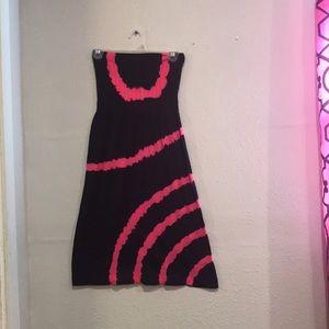Black and pink tube dress size OSFM