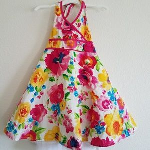 Halter floral dress for girls