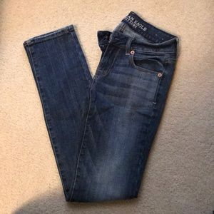 Skinny American eagle size 0 stretch jeans