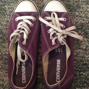Purple converse -lightly used