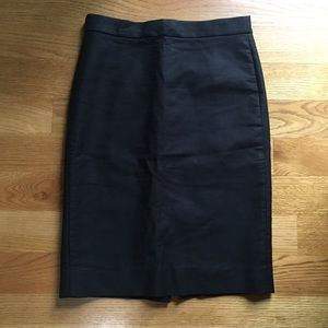 J.Crew No. 2 Black Cotton Pencil Skirt