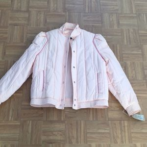 NEW WITH TAGS VINTAGE Pink Puffer Coat from 80s
