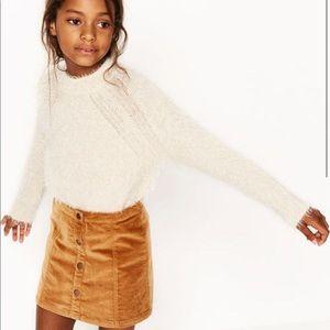 Zara Button Down Girl's Skirt