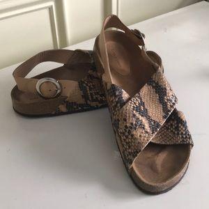 Zara Leather Sandals: Euro Size 39