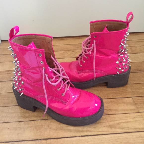 Jeffrey Campbell 8th Street Pink Spiked