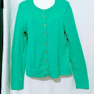 Lilly Pulitzer Green Cardigan sz M Sweater