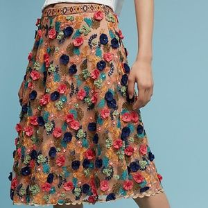 NEW-Anthropologie embellished size 4 Skirt