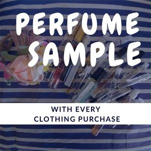 Other - Perfume Sample w/clothing purchase