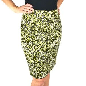 J. Crew Patterned Pencil Skirt